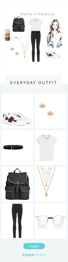 The easiest way to find the perfect outfit School Looks, Skagen, Everyday Outfits, School Outfits, J Brand, Gucci, Frame, Polyvore, Shopping