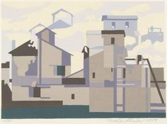 Charles Sheeler Architectural Cadences signed, dated and inscribed 'To Joan + Fred Wight with deep appreciation. Charles Sheeler (in the lower margin) Charles Sheeler, Pop Art, Urban Landscape, Gouache, American Art, Art For Sale, Modern Art, Contemporary, Illustration Art