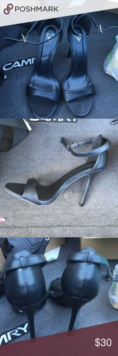 Black heels! Good quality and cheap price! Black simple heels! Super adorable! From Windsor only worn once for an hour! They look brand new! WINDSOR Shoes Heels