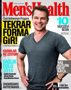 Men's Health 2014 Ocak sayısı.