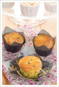 Mini cakes orange, pépites de chocolat