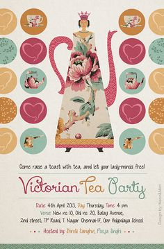 Victorian Tea Party Printables on Behance