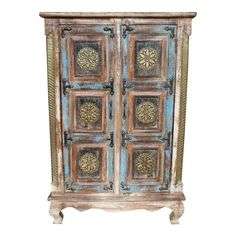 Cabinet Aloki patine bleue