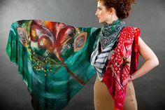 Handmade artistic scarves