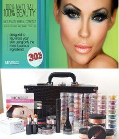 MicaBeauty Cosmetics Professional Artist Mineral Makeup Fair Skin Set Black Case #MicaBeauty