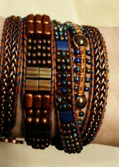 Finally finished Color Study bracelet in Copperhead.
