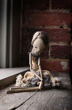Marionette // Sculptures // Dolls // By Karly Perez Clay Dolls, Bjd Dolls, Doll Toys, Toy Art, Marionette Puppet, Puppets, Art Jouet, Paperclay, Creepy Dolls