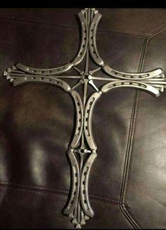 Horseshoe and Nail Cross