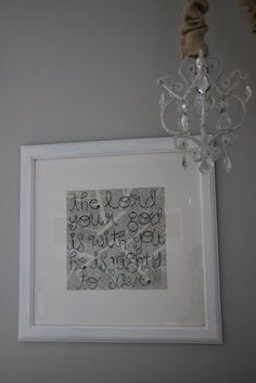Sweet Bible verse in hung as a diptych!