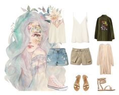 """""""So mnoy nejno"""" by olgalisstyle on Polyvore featuring мода, Zadig & Voltaire, Anine Bing, LE3NO, Lacoste, Converse и Ancient Greek Sandals"""