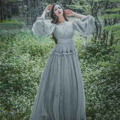 maxi dress on sale at reasonable prices, buy 2018 Women light gray seashore vintage fairy long maxi dress medieval dress Renaissance Gown princess Victorian dress from mobile site on Aliexpress Now! Renaissance Dresses, Medieval Dress, Renaissance Fairy, Stylish Dresses, Fashion Dresses, Maxi Dresses, Long Dresses, Pretty Dresses, Beautiful Dresses