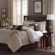 Madison Park Dune Beige/Brown 7-piece Contemporary Comforter Set - Overstock™ Shopping - Great Deals on Madison Park Comforter Sets