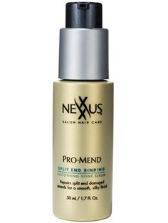 This Nexxus ProMend Split End Binding Smoothing Shine Serum temporarily fuses split ends together, smooths frizz, and adds shine....