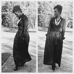 Chic African Print Maxi Shirt black #churchflow #africanprintskirt #justme #flawless