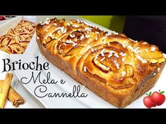 BRIOCHE SOFFICISSIMA DA COLAZIONE MELA E CANNELLA 🍎 Cinnamon and Apple Rolls - YouTube Biscotti, Cake Recipes, French Toast, Food And Drink, Bread, Cooking, Breakfast, Strudel, Desserts