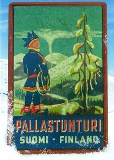 Vintage poster--Pallastunturi, Suomi, Finland