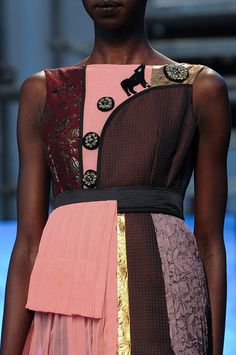 Antonio Marras Fall 2014 - Details you can tell that he has a background in textiles