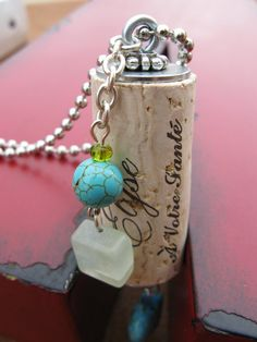 Recycled/Upcycled Wine Cork Necklace with Charms by CCMDesigns, $14.00