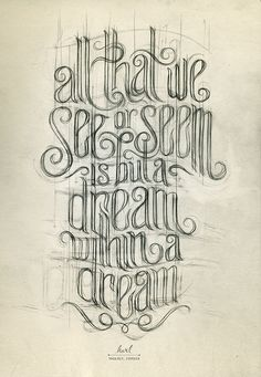 all that we see or seen is but a dream within a dream tattoo for the back of my thigh