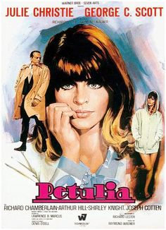 Julie Christie stars with George C. Scott in, 'Petulia' directed by Richard Lester, 1968.