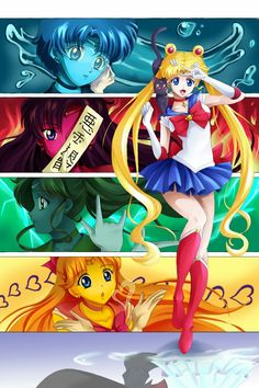 Pretty Sailor Senshi by on DeviantArt Sailor Jupiter, Sailor Venus, Sailor Mars, Watch Sailor Moon, Sailor Moon Fan Art, Sailor Moon Crystal, Disney Marvel, Studio Ghibli, Thor