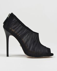 Dariene Sheer Peep-toe Bootie by Badgley Mischka