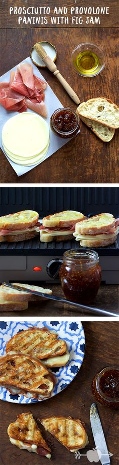 Prosciutto and Provolone Grilled Cheese with Fig Jam   applegate.com/recipes