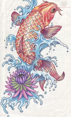i like the scales and pattern of the colors on the on the fish itself.