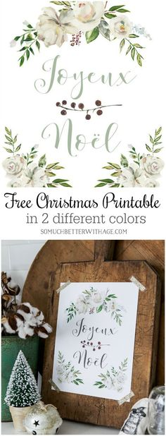 Joyeux Noel or Merry Christmas in French is a free printable for you to download from your home computer.  Be sure to visit the other 25+ bloggers and see