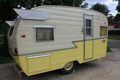 Vintage 1961 Shasta Airflyte 16 ft Camper travel trailer, Cute Canned ham Unique in RVs & Campers | eBay Motors