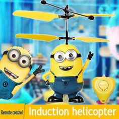 HOT toy Best Price The Most Funny Toy Remote Control RC Despicable Me Minion Helicopter Kids Toy Despicable Me Christmas gift Minions, My Minion, Drone Quadcopter, Ar Drone, Rc Hobby Store, Hobby Kids Games, Folding Drone, Drone With Hd Camera, Remote Control Drone