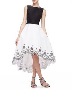 Oscar de la Renta High-Low Dress