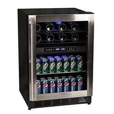Magic Chef 44 Bottle Stainless Dual Zone Wine Beverage Cooler *** Check this awesome product by going to the link at the image. Wine Coolers Drinks, Bar Drinks, Beverages, Drink Bar, Tequila Drinks, Fruity Drinks, Beverage Refrigerator, Wine Fridge, Cooler Reviews