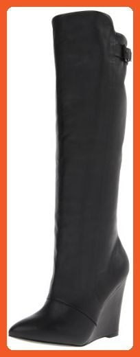 Steve Madden Women's Zylon Riding Boot,Black Leather,10 M US - Boots for women (*Amazon Partner-Link)
