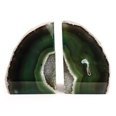 Agate Bookend - Green