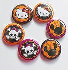 Halloween Cuties Flatback Pin Back Buttons 1 for Bows Embellishment - Halloween Flatback Pins Embellishments, Bows, Scrapbook, Buttons, Halloween, Ornaments, Arches, Bow, Decoration