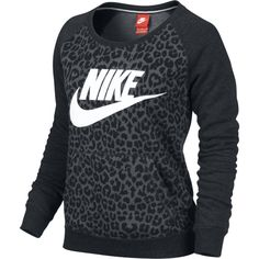 Nike Rally Women's Sweatshirt (205 BRL) ❤ liked on Polyvore featuring tops, hoodies, sweatshirts, shirts, sweaters, nike, sweatshirt, black, cotton sweatshirts and raglan shirts