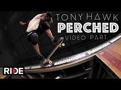 Skateboarding Legend Tony Hawk Shows off a Series of Impressive Tricks on an Indoor Half-Pipe