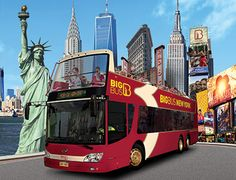 Hop on, Hop Off - Liberty Combo includes 2 days of Manhattan, Brooklyn, Night Tour and ferry to Ellis Island / Statue of Liberty ($79USea)