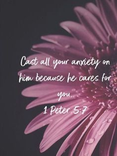 Bible Verses About Love:Cast all your anxiety on him because he cares for you. Bible Verses Quotes, Bible Scriptures, Faith Quotes, Prayer Quotes, Christian Life, Christian Quotes, Christian Living, 1 Peter 5, Favorite Bible Verses
