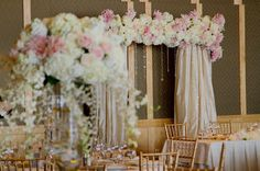 Lush florals for wedding