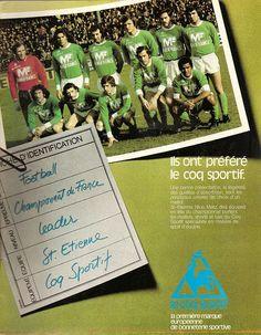 PUB. Le Coq Sportif. St-Etienne. ~ THE VINTAGE FOOTBALL CLUB
