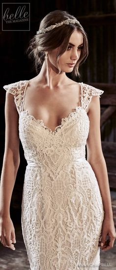 "With bold and intoxicating wedding dresses that are ""Everything"", Anna Campbell 2018 Eternal Heart Collection is a bridal-fashion moment not to be missed. Rustic Wedding Photos, Rustic Wedding Dresses, Wedding Dresses 2018, Colored Wedding Dresses, Bridal Dresses, W Dresses, Anna Campbell, Stunning Wedding Dresses, Peacock Wedding"