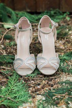 Bridal shoes outside - Kathy Silke Photography - Ireland