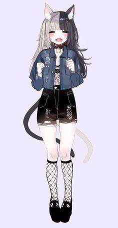 Anime art girl kawaii catgirl Ideas for 2019 art 794674296731891091 Anime Girl Neko, Manga Girl, Chica Gato Neko Anime, Art Anime Fille, Cool Anime Girl, Beautiful Anime Girl, Anime Art Girl, Manga Anime, Anime Girls