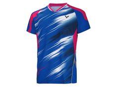 Victor Rio Olympic Korean National Team Men's T-Shirt – Yumo Pro Shop - Racquet Sports online store Sport Shirt Design, Sport T Shirt, Olympic Table Tennis, Posh Clothing, Badminton Shirt, Football Shirts, Rugby Jerseys, T Shorts, Sports Uniforms