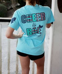 Cheer Is Bae Short Sleeve Tee with Logo Backpack Cheerleading Quotes, Cheer Quotes, Cheerleading Outfits, Cheer Sayings, True Quotes, Cheer Jumps, Cheer Stunts, Cheer Dance, Cheer Athletics