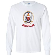 USS Yorktown Veteran White Long Sleeve Shirt now available! Show your Navy Service pride with this White Performance Long Sleeve Shirt. This performance shirt features 100% Polyester antimicrobial, moisture wicking fabric that will keep you cool, dry, and comfortable. THIS IS A PERFORMANCE FABRIC SHIRT, NOT COTTON. Designed, Printed & Sublimated in the USA -Fabric Imported.
