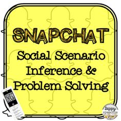Snap Chat Social Scenario Inference & Problem Solving