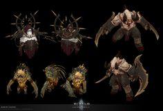 ArtStation - D3 RoS Monsters, Aaron Gaines Diablo